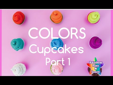 FUN PLAY AND LEARN COLORS CUPCAKE SURPRISE TOYS FOR KIDS  | PLAY-DOH RAINBOW CUPCAKES PART 1
