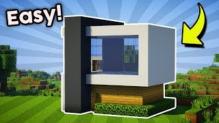 Minecraft How To Build A Easy Small Modern House Tutorial 6