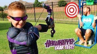 Download Hawkeye BOW! Super Hero Gear Test and Bunch o Balloons Challenge! Video