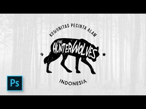 Cara Desain Logo Hipster dengan Photoshop - Photoshop Tutorial Indonesia