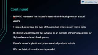 Unacademy Science and Technology for UPSC:  Rotavirus