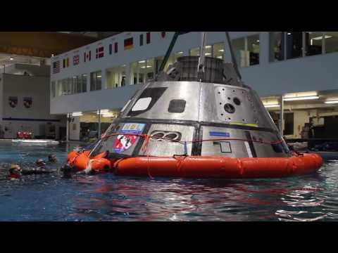 Divers Train for Orion Recovery at NASA's Johnson Space Center