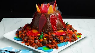A Show-Stopping Volcano Cake That Will Shock Your Family • Tasty