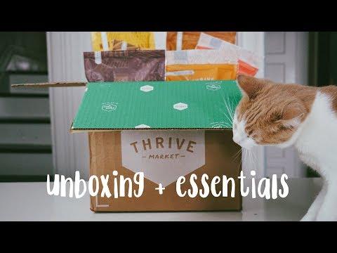Thrive Market Unboxing + Essentials//Vegan + Affordable