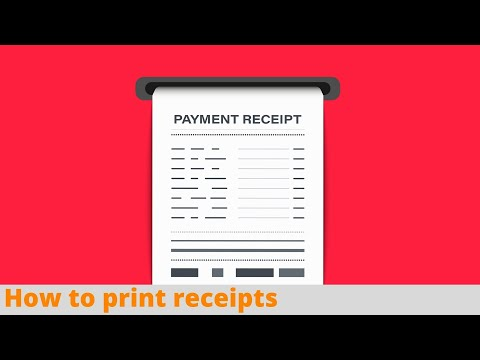 How to Print Receipts