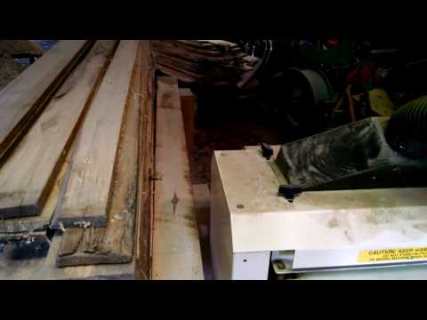 Making rough cut lumber into usable flooring