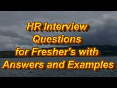 HR Interview Questions for Fresher's with Answers and Examples