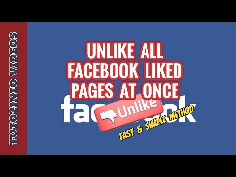 How to Unlike All liked Facebook Pages At Once | Fast & Simple Method