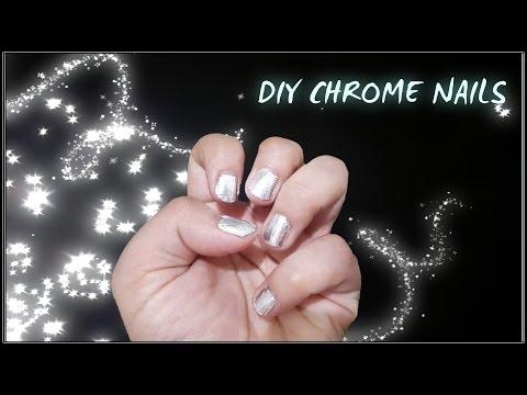 DIY Chrome Nail Aluminium foil | Pinterest Inspired DIY