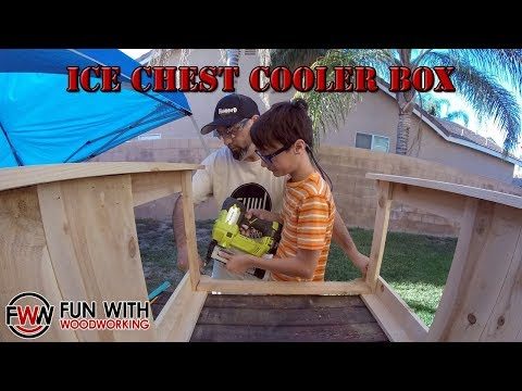 Time Lapse - Ice Chest Cooler box build with my son for a charity auction