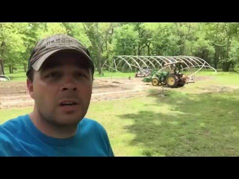 How To Build a High Tunnel Greenhouse Phase 2