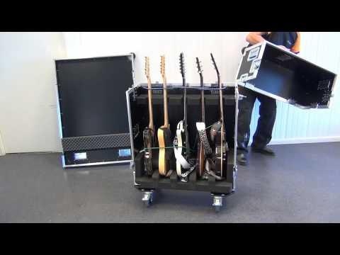 Capro Flight Case for 5 Guitars, - GISKA 02