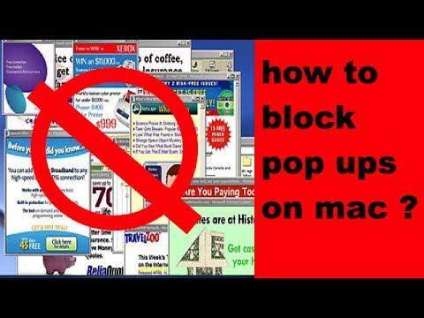 How to block pop ups on mac
