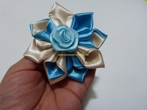 Diy satin Ribbon Rose, Satin flower tutorial, How to make beautiful flowers with fabric