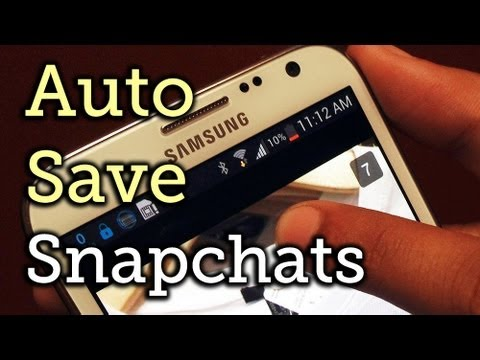 Automatically Save Snapchat Images & Videos Without a Screenshot - Samsung Galaxy Note 2 [How-To]