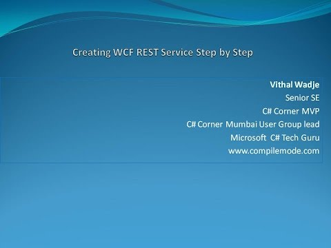 Creating WCF REST Service Step by Step