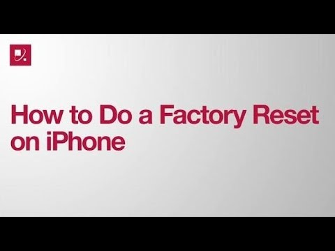 How to Do a Factory Reset on iPhone