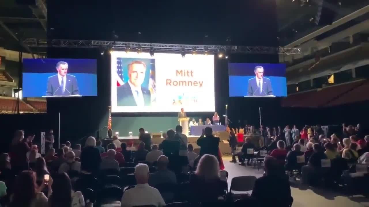 Sen. Mitt Romney booed at Utah GOP convention