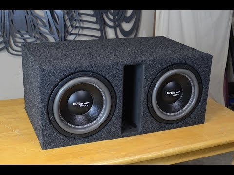 CT Sounds How To   Build a Ported Subwoofer Box for 2 12