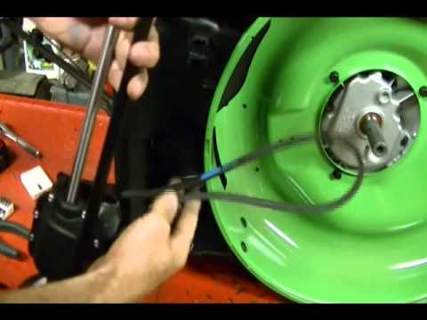 How to Replace the Belt and route Cable on a Rear Wheel Drive Lawnboy Lawnmower model 10734