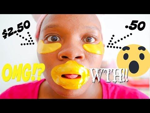 I TRIED the Anti-aging 24k Gold Collagen Eye Mask! 24k Gold Eye Mask Skincare Test