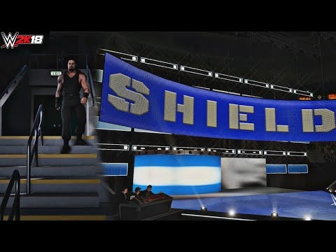 WWE 2K18 Shield 2017 Trons GFX feat. Roman Reigns Free Cam Crowd Entrance (PC Mods)