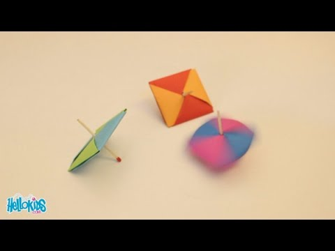 How to make a spinning top (Hellokids)