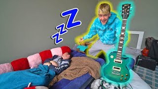 ELECTRIC GUITAR WAKE UP REVENGE PRANK!