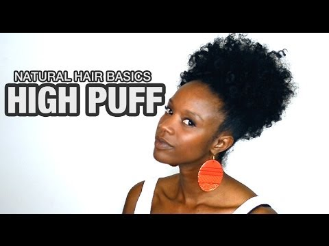 NATURAL HAIR: curly high puff | Nik Scott