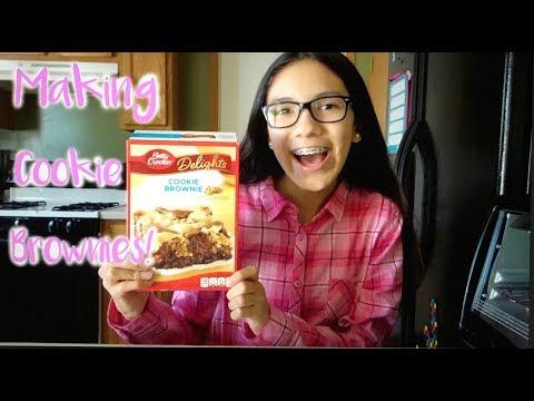 Making Cookie Brownies!