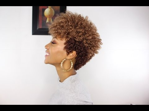 Tapered Cut Hairstyle Using Curlkalon Curls | Install + Cutting Process