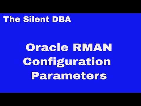 Oracle RMAN Configuration Parameters