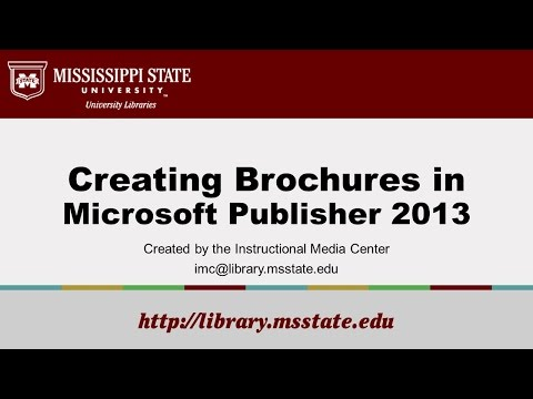 Creating Brochures in Publisher 2013