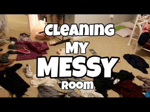 Cleaning my MESSY Room!!