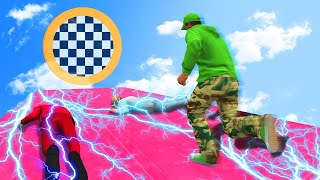 RUN ACROSS THE DEADLY ELECTRIC PLATFORM! (GTA 5 Funny Moments)