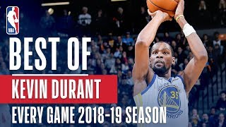Kevin Durant's Best Play From Every Game Of The 2018-2019 Season