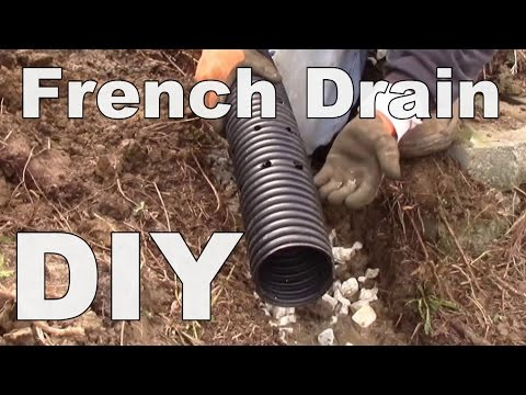 DIY - Corrugated Pipe, French Drain, Holes Point Down