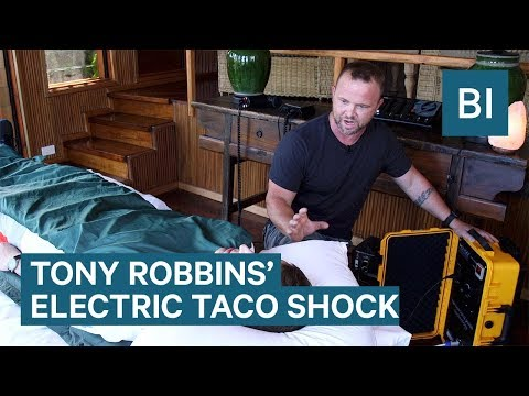 Tony Robbins shocks himself every morning with the