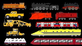 Railway Vehicles 2 - Trains and Locomotives - The Kids