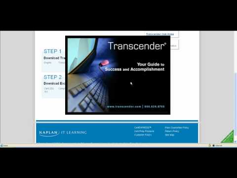 Downloading Transcender practice exam with a voucher from GetCertify4Less.com