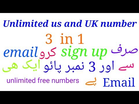 Make unlimited free USA and UK number only sign up with email and 3 numbers free everyday time