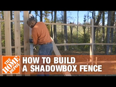 How to Build a Shadowbox Fence