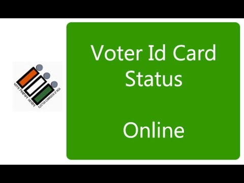 how to check voter id status in online