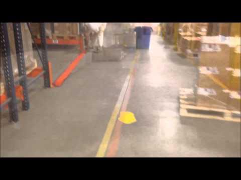 Epoxy Line Striping inside a Warehouse