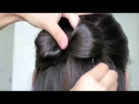 Hair Bow And butterfly Hair Style Tutorial