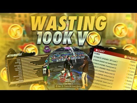 WASTING 100K VC TO UPGRADE FROM 80 to 90 OVERALL - PURE POST SCORER - NBA 2K18