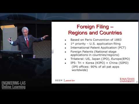 International Patent Treaties, Laws & Practice - Intellectual Property Lawyer Rich Beem at Iowa St.