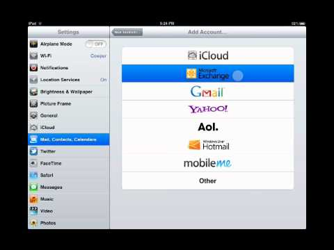 Add Outlook Live to an iOS Device