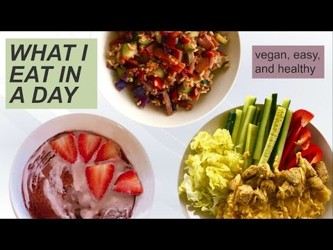 What I Eat in a Day #7 // Healthy Vegan Microwave Cake Recipe