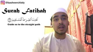 Heart Touching Recitation - Surah Fatihah - By Basheer Chisty
